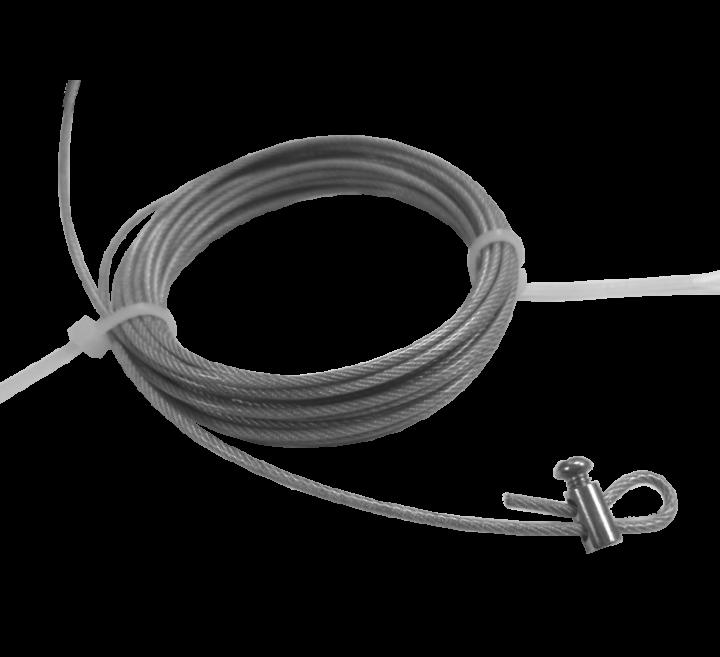 Тросик с фиксатором без крепления - 1.5мм